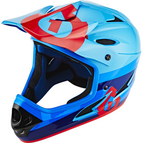 SixSixOne Comp Fullface Helm bolt red/blue